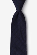 Navy Blue Cotton San Luis Extra Long Tie