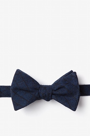 _San Luis Navy Blue Self-Tie Bow Tie_