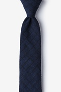 Navy Blue Cotton San Luis Skinny Tie