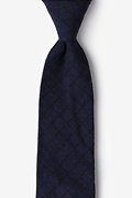 Navy Blue Cotton San Luis Tie