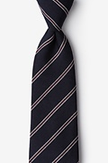 Navy Blue Cotton Seagoville Extra Long Tie