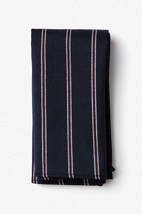 Seagoville Navy Blue Pocket Square
