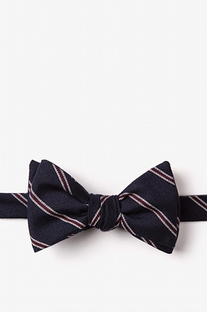 _Seagoville Navy Blue Self-Tie Bow Tie_