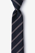 Navy Blue Cotton Seagoville Skinny Tie