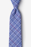 Navy Blue Cotton Seattle Extra Long Tie