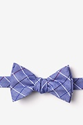 Navy Blue Cotton Seattle Self-Tie Bow Tie