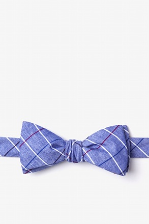 _Seattle Navy Blue Skinny Bow Tie_