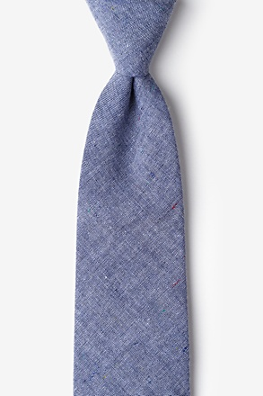 _Teague Navy Blue Extra Long Tie_