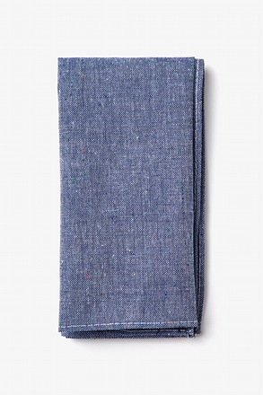 Teague Navy Blue Pocket Square