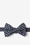 Navy Blue Cotton Tempe Self-Tie Bow Tie