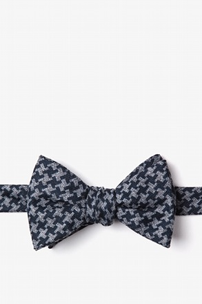 Tempe Navy Blue Self-Tie Bow Tie