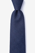Navy Blue Cotton Tiffin Extra Long Tie