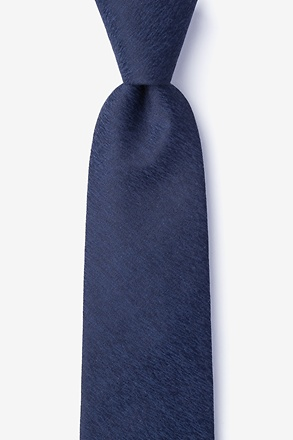 _Tiffin Navy Blue Extra Long Tie_