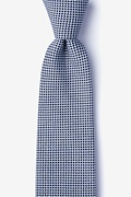 Navy Blue Cotton Twin Extra Long Tie