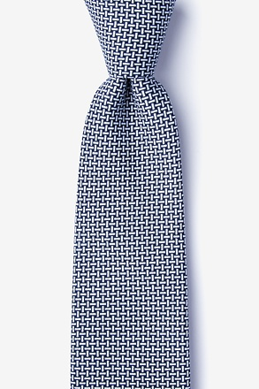 _Twin Navy Blue Extra Long Tie_