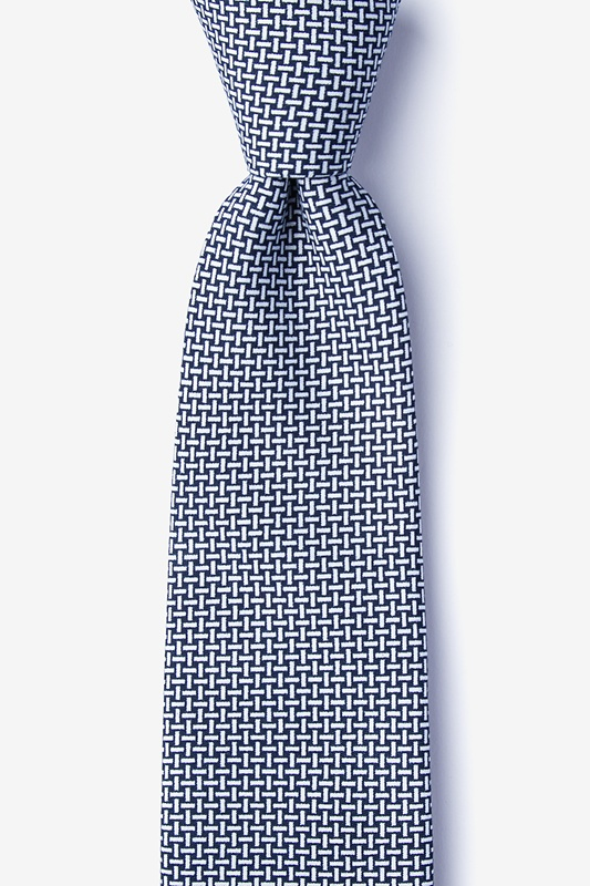 Twin Navy Blue Extra Long Tie Photo (0)
