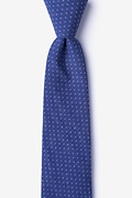Navy Blue Cotton Union Skinny Tie