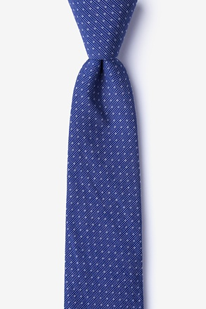 _Union Navy Blue Skinny Tie_