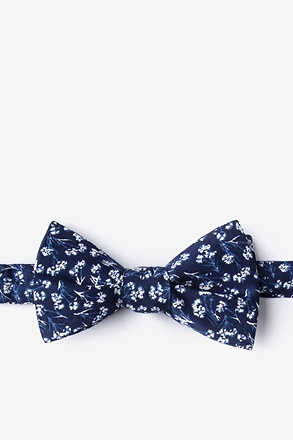 _Welch Navy Blue Self-Tie Bow Tie_