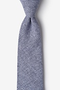 Navy Blue Cotton Westminster Extra Long Tie
