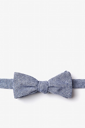 _Westminster Navy Blue Skinny Bow Tie_