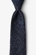 Wilsonville Navy Blue Extra Long Tie Photo (0)