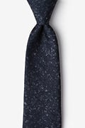 Navy Blue Cotton Wilsonville Extra Long Tie