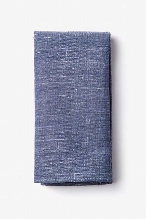 Wortham Navy Blue Pocket Square