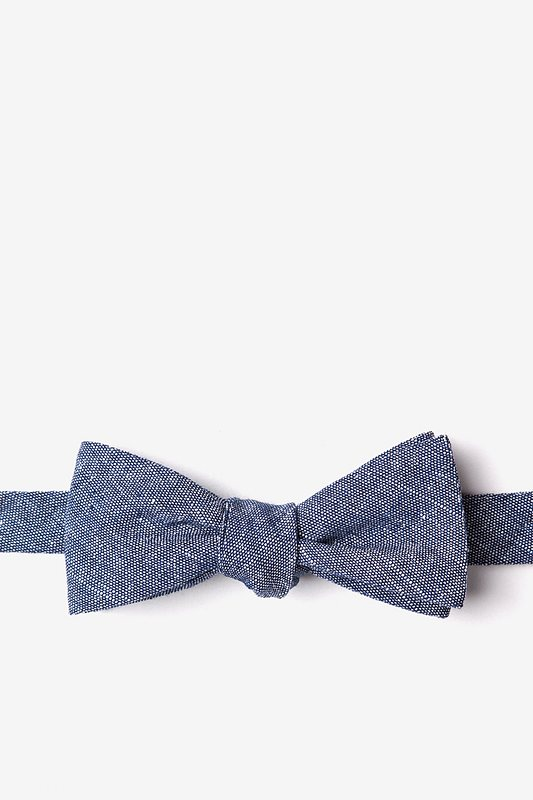 Wortham Navy Blue Skinny Bow Tie Photo (0)