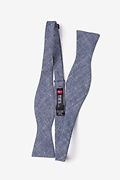 Wortham Navy Blue Skinny Bow Tie Photo (1)
