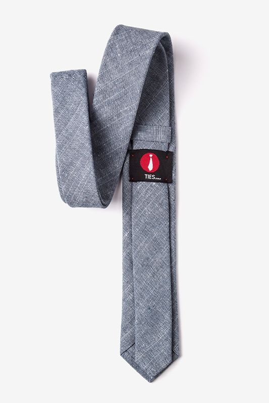 Wortham Navy Blue Skinny Tie Photo (1)