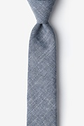 Wortham Navy Blue Skinny Tie Photo (0)
