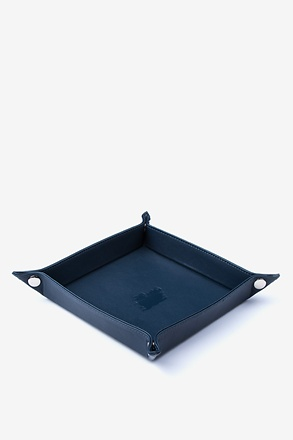Large Flat-Pack Leather Valet Tray