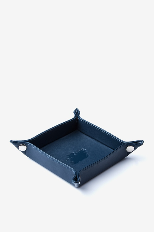 Small Flat-Pack Leather Valet Tray