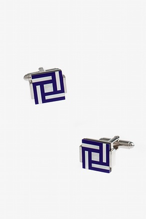 Frosted Artsy Square Cufflinks
