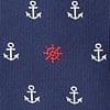 Navy Blue Microfiber Anchors & Ships Wheels Butterfly Bow Tie
