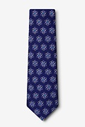 Atomic Nucleus Navy Blue Extra Long Tie Photo (1)