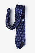 Atomic Nucleus Navy Blue Extra Long Tie Photo (2)