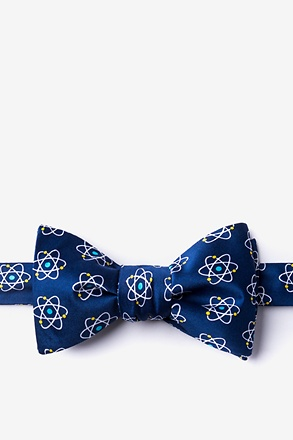 _Atomic Nucleus Navy Blue Self-Tie Bow Tie_