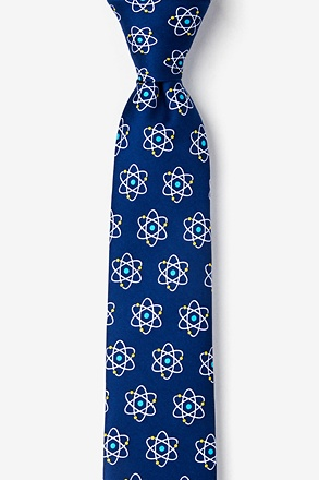 Atomic Nucleus Navy Blue Skinny Tie