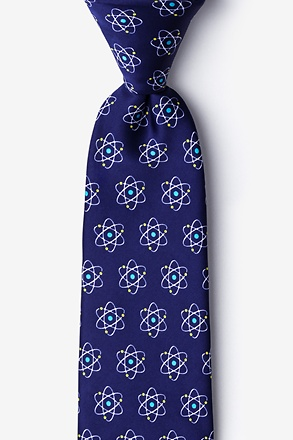 _Atomic Nucleus Navy Blue Tie_