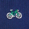 Navy Blue Microfiber Bicycles Skinny Tie