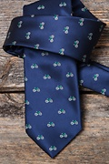 Bicycles Navy Blue Tie