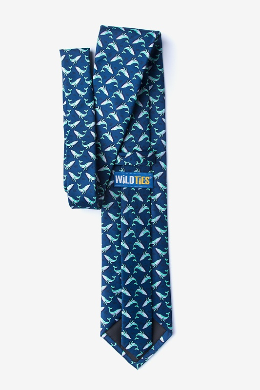 Blue Whales Extra Long Tie