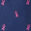 Navy Blue Microfiber Breast Cancer Ribbon Bow Tie