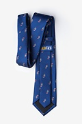 Candy Canes Navy Blue Extra Long Tie Photo (1)