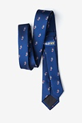 Candy Canes Navy Blue Skinny Tie Photo (1)
