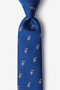 Candy Canes Navy Blue Tie Photo (0)