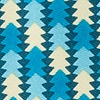 Navy Blue Microfiber Christmas Tree Abstract Extra Long Tie