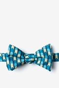 Navy Blue Microfiber Christmas Tree Abstract Self-Tie Bow Tie